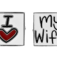 I Love My Wife Husband Anniversary Wedding Gift Cufflinks