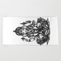 Ganesh Beach Towel by Kristy Patterson Design