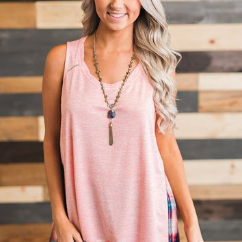 Josie Plaid Tank (Pink)