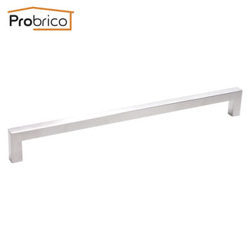 Probrico 10 Pcs 12Mm*12Mm Square Bar Handle Stainless Steel Hole Spacing 288Mm Cabinet Door Knob Drawer Pull Pddj27Hss288