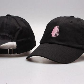 DCCKUNT The New Last Kings Visor Unisex Outdoor Couple's Cotton Baseball Cap - Black