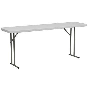18''W x 72''L Granite Plastic Folding Training Table