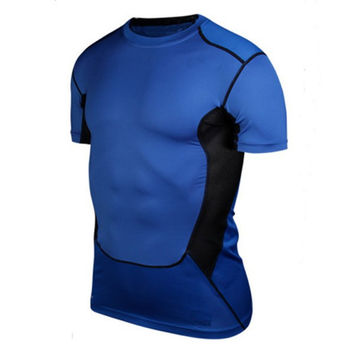 Men's Compression Tight Shirts Base Layer Fitness Workout Tops S-XXL