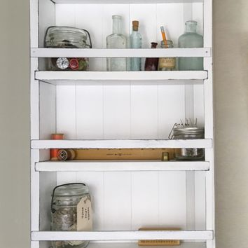 The Mansfield Spice Rack No. 102 - Wall-Mounted or Countertop Spice Rack / Kitchen Shelves