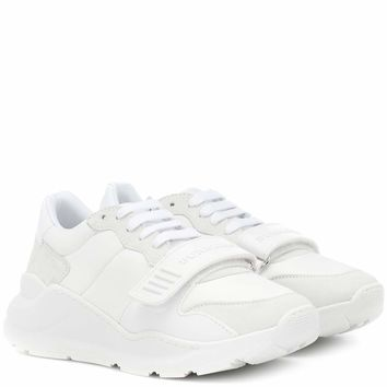 Suede leather and neoprene sneakers