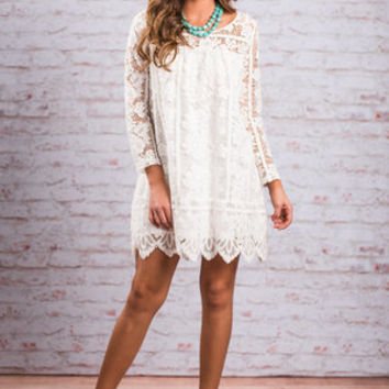 Leave An Impression Dress, Ivory
