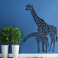 Wall Decals Animals Family Of Giraffes Vinyl Sticker Living Room Decor Baby Kids Wall Decor Home Decor Vinyl Nursery Room Decor C538