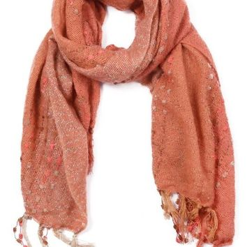 Rust Mixed Texture Scarf