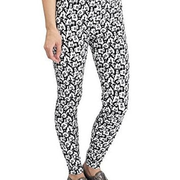 Disney Juniors Mickey Mouse Allover Leggings (Small)