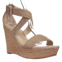 Marc Fisher Haely Espadrille Wedge Sandals, Light Natual, 10 US