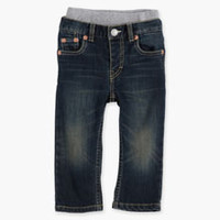 Boys' Levi's Baby Pull On Straight Fit Jeans - Dark Blue - Kids