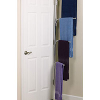 Hinge-It Clutter Buster Door Towel Rack - Chrome
