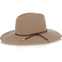 Emilio Pucci - Leather-trimmed merino wool-felt fedora