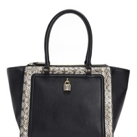 Luxe Locks Leather Tote by Juicy Couture