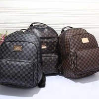 LV Louis Vuitton Fashion Unisex Shoulder Bag Bookbag Backpack Daypack