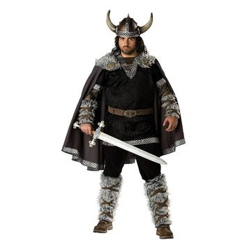 Viking Warrior Costume - Adult (Grey)