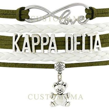MDIGS KAPPA DELTA Love Charm Bracelet Sorority Pledge College Student Gift Infiniti Jewelry