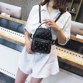 School Backpack trendy Women Backpacks 2018 Glitter Fashion Causal School Bags Rivets Shoulder Bag PU Leather Backpacks Female Mochila Escolar XA481H AT_54_4