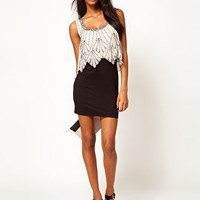 Lipsy Embellished Top 2 In 1 Dress at asos.com
