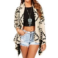 Ivory/Black Aztec Sweater