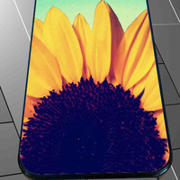 Sunflower Chevron Woodgrain Marble for iPhone 4/4s/5/5S/5C/6/6+, Samsung S3/S4/S5 Case *76*