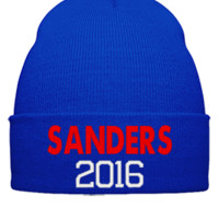 BERNIE FOR PRESIDENT 2016 EMBROIDERY HATS - Beanie Cuffed Knit Cap
