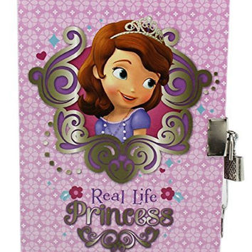 3 Pk. Disney Sofia the First, Princess Diary with Lock