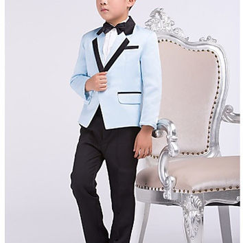 Four Pieces Pool Ring Bearer Suit Boys Tuxedo