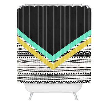 Allyson Johnson Mixed Aztec 1 Shower Curtain