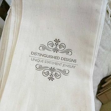 "Cloth Bags Printed with Your Logo or Statement 6"" x 9"" sized bag - sets of 50"