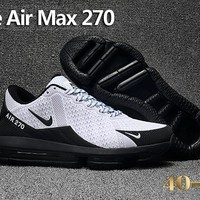 Nike Air Max 270 White/Black Cushion Shoes Size 40-47