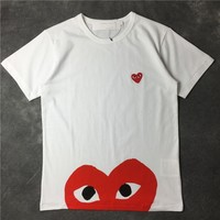 Unisex Cotton Couple Short Sleeve T-shirts [10159718343]