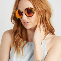 Quay Vintage Inspired Curvilinear Thinking Sunglasses