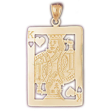14K GOLD GAMBLING CHARM - PLAYING CARD #5463