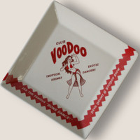 Club Voodoo Coaster/ Cocktail Napkin Tray - 1920's Prohibition