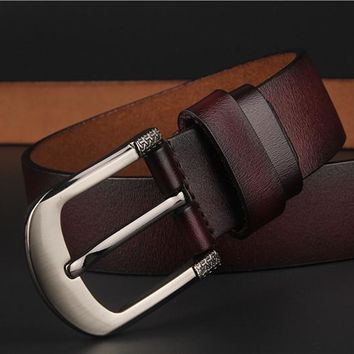 Fashion 160 CM Men Belt GENUINE Leather Waistband Vintage Classic Pin Buckle Design Belts For Men ceinture homme luxe marque TY