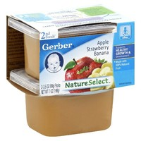 Gerber Baby 2nd Foods Apple Strawberry Banana 3.05 oz 2 ct