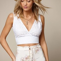 LA Hearts Plunging Eyelet Tank Top at PacSun.com
