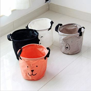 Hot 20*20cm waterproof dirty barrel folding toy clothes basket bra necktie socks storage box bag bins organizer laundry basket