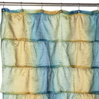 Carnation Home Fashions Carmen Crushed Voile Fabric Shower Curtain, Umbery