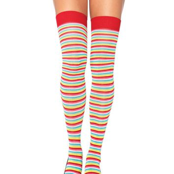 Leg Avenue Female Mini Rainbow Acrylic Thigh Highs 6330