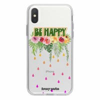 Be Happy Floral iPhone Case