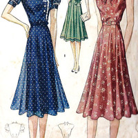 1930s Misses Dress  Vintage Unprinted Sewing by MissBettysAttic