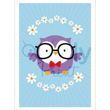 Cute Owl Printable Wall Art. Ready to print Owl Poster. Owl  Wall Art print,