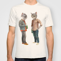 A Cats Night Out T-shirt by Florever