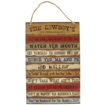 The Cowboy's Ten Commandments Plaque | Shop Hobby Lobby