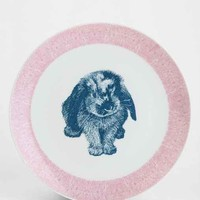 Plum & Bow Critter Plate- Pink One
