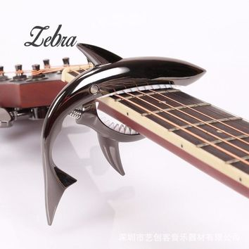 Guitar Accessories Sharks Folk Guitar Capo Acoustic Wooden Guitar Capo Sound Clip