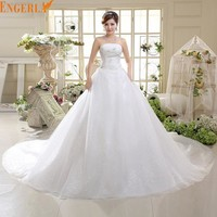 Free Shipping Large Tail Wedding Dress Bandage Noble Vestido De Noiva Sereia Wedding Gowns Wedding Dress HS585