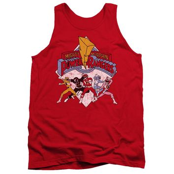 Power Rangers - Retro Rangers Adult Tank Top Officially Licensed Apparel